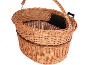 Wicker Basket With Clamp Electric Bike Accessory